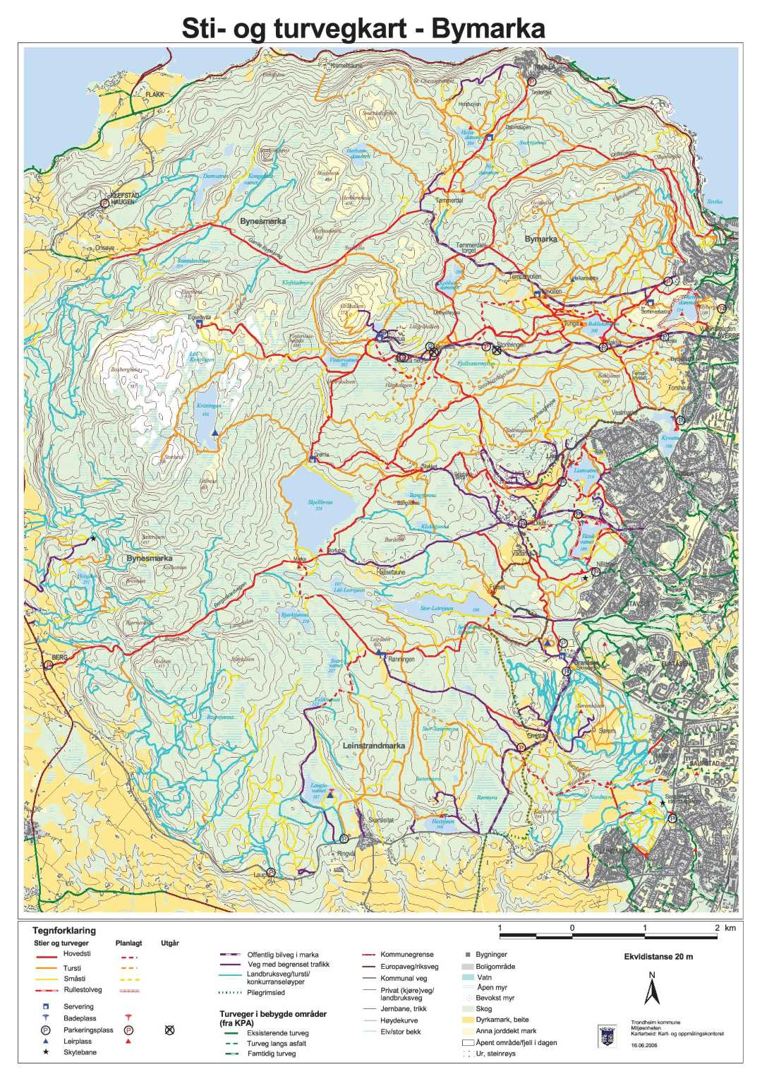 kart bymarka Handlingsprogram turfriluftsliv   Trondheim kommune kart bymarka